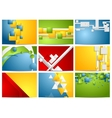 Colorful bright technology backgrounds set vector image