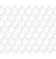 Geometric white hexagonal seamless pattern vector image