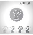Medicine outline icon vector image