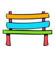 park bench icon icon cartoon vector image