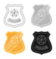 police badge icon in cartoon style isolated on vector image