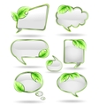 Set banners with leaf vector image