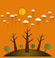 summer eco friendlyecology concept with tree vector image