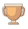 trophy cup design vector image