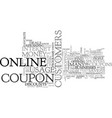 What you should know about your online coupons vector image