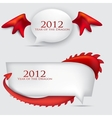 Bubbles for speech 2012 year of Dragon vector image vector image
