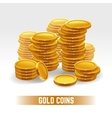 Gold coins pile vector image vector image