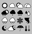 Icon set of weather eps 10 vector image