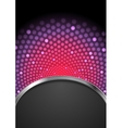 Abstract purple shiny flicker glowing design vector image