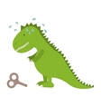 Isolated toy dinosaur design vector image