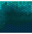 Emerald hexagonal texture vector image