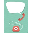 Retro phone vector image