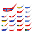 Ice hockey sticks with flags vector image