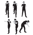 silhouettes stand for sparring vector image