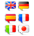 Speech bubbles flags vector image vector image