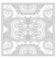 coloring book square page for adults - ethnic vector image vector image