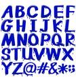Alphabets vector image