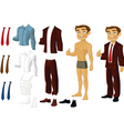 businessman doll vector image