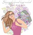 beautiful woman shopping vector image