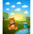 bear cartoon vector image vector image