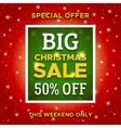 Big Christmas Sale promo banner template vector image