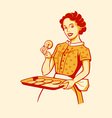 Cooking housewife vector image