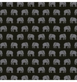 elephant silhouette asian icon vector image