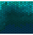 Emerald hexagonal texture vector image