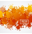 Orange Drop Blot Background vector image