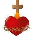 Sacred Heart of Jesus vector image