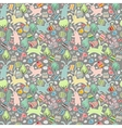Seamless dark pattern with easter rabbits vector image