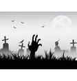 zombie waking vector image
