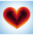 heart shape made from paper vector image vector image