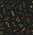 varicolored seamless music pattern vector image