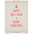 Vintage poster on old paper for new year vector image