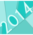Happy New Year 2014 postcard vector image
