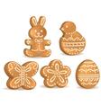 Easter cookies vector image