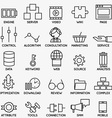 Set of seo and internet service icons - part 3 vector image vector image