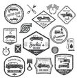 Retro Car Label Black Set vector image