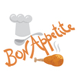bon appetite inscription vector image vector image