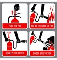 Fire extinguisher instruction vector image vector image