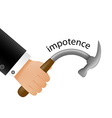 Impotence Stock vector image vector image