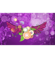 grunge background with wings vector image vector image