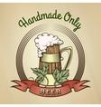 Beer Mug in Vintage Style vector image