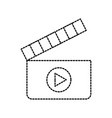 film clapper movie play equipment image vector image