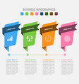 four banners for infographics business concept vector image