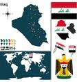 Iraq map world vector image