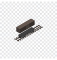 isolated container wagon isometric delivery tank vector image