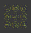 personal urban transport flat icons vector image