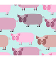 Pig seamless pattern Background of animals A herd vector image